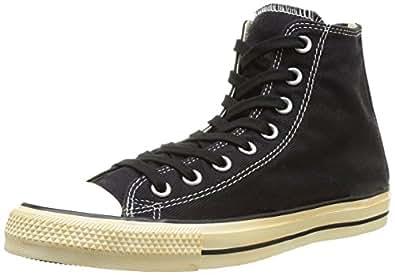 Converse Chuck Taylor All Stars Back Zip Hi Shoes UK 3 Vintage Washed Twill Black