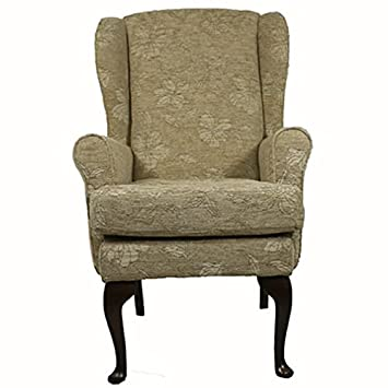 "Coniston Orthopedic High Seat, High Back Chair - Nutmeg Co-ordinated Chenille Fabric. 21"" Seat Height, 18"" Seat Width"