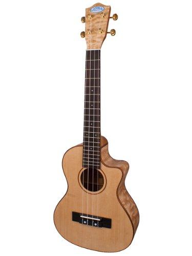 Lanikai Lqa-Tca Quilted Ash Cutaway Acoustic-Electric Tenor Ukulele