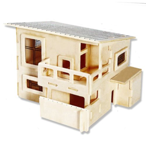 3-D Wooden Puzzle - Small Wateitaku Building -Affordable Gift for your Little One! Item #DCHI-WPZ-PH001 - 1