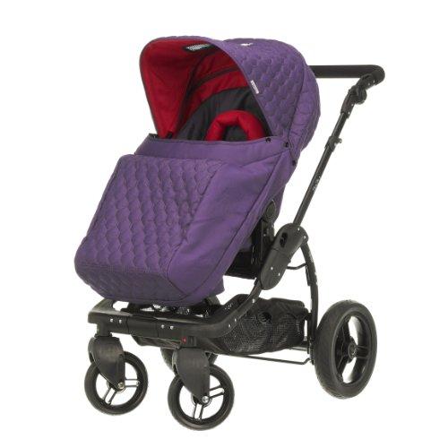 Obaby Zezu Pramette Stroller and Changing Bag (Purple Quilt)