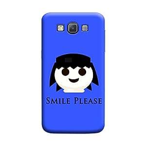 Desicase Samsung A3 Smile Please 3D Matte Finishing Printed Designer Hard Back Case Cover (Blue)