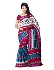 Diva Fashion-Surat Art Silk Printed Multi Color Saree-DFS447A
