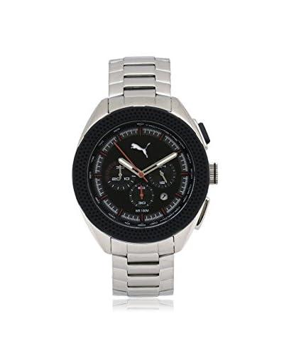 Puma Men's PU103251002 Silver/Black Stainless Steel Watch
