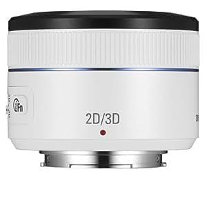 Samsung NX 45mm f/1.8  2D/3D Camera Lens (White)