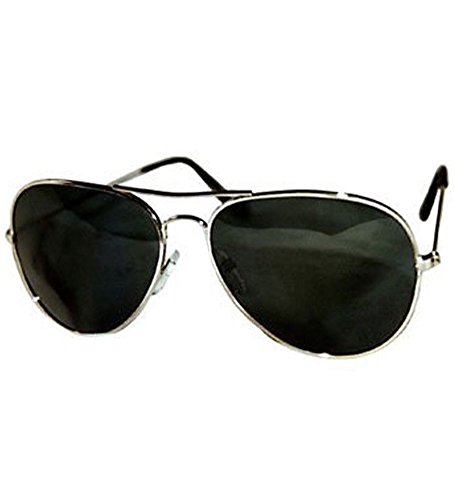 Aviator Sunglasses - Timeless Classic Aviator Sunglasses With Black Lenses