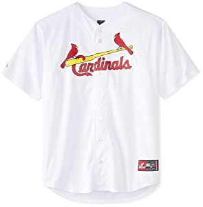 St. Louis Cardinals Big & Tall Replica White Jersey by Majestic Athletic
