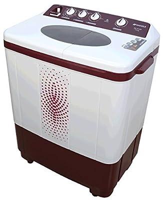Sansui SS72FR-SA Semi-automatic Top-loading Washing Machine (7.2 kg, Dark Maroon)
