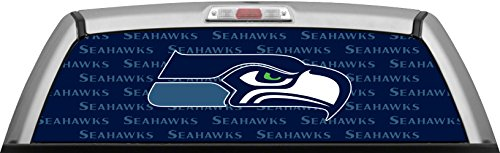 SEAHAWKS - STAMPED BLUE WINDOW WRAP : Truck SUV Car Rear Decal Sticker Canvas Tint (Seahawk Window Tint compare prices)