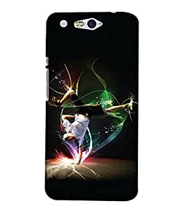 Print Haat Back Cover for Infocus M812 (Multi-Color)