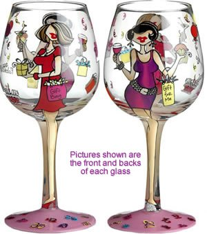 Bottom's Up 15-Ounce Fabulous At Any Age Handpainted Wine Glass