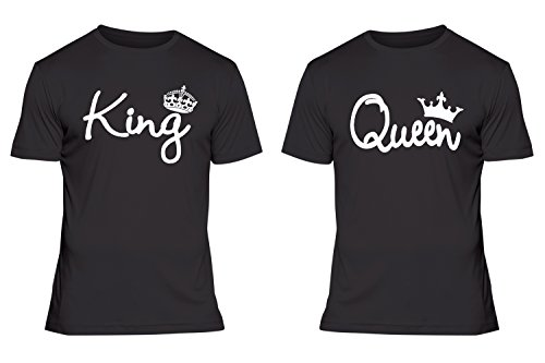 Fresh Tees® King And Queen Couple T-shirt Set (2X-Large/2X-Large, Black) Review