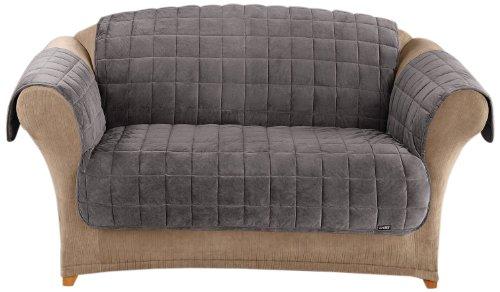 Sure Fit Deluxe Sofa Pet Throw, Dark Gray front-562458