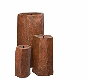 Atlantic Water Gardens 3-Piece Basalt Column, 30/22/16-Inch