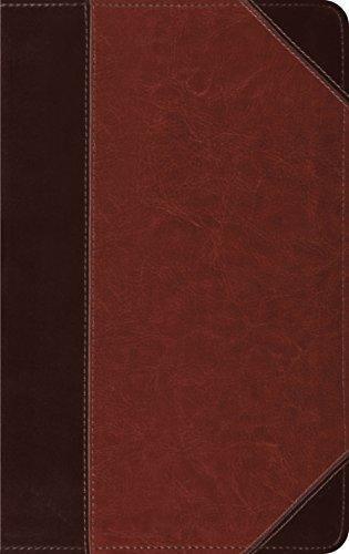 ESV Thinline Bible, TruTone, Brown/Cordovan, Portfolio Design,  Red Letter Text