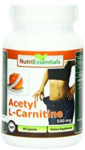 Nutri Essentials Acetyl L-Carnitine Capsules, 500 mg, 60 Count