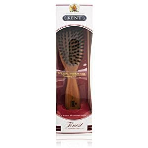 Kent Brushes Oval Cherry Wood Hairbrush, LC22, 6 Ounce
