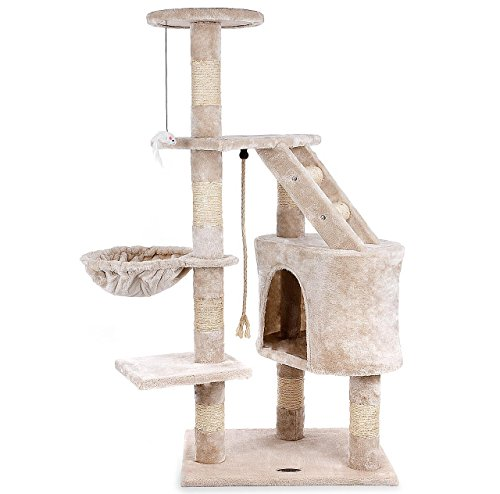 Produktabbildung von Kratzbaum Katzenbaum CAT017-2 Mittelhoch 1,20 m Beige