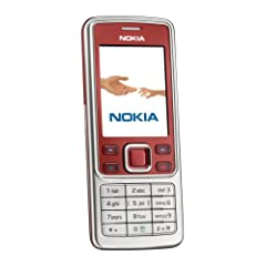 Nokia 6300 red (EDGE, Bluetooth, Kamera mit 2 MP, Musik-Player, Stereo-UKW-Radio, Organizer) Handy ohne Branding