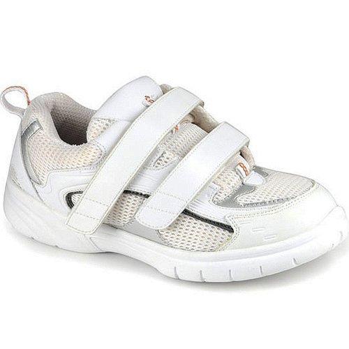 Apis Mt. Emey 9701-3V Men'S Therapeutic Extra Depth Shoe: White/Silver 14 X-Wide (4E) Velcro front-318895