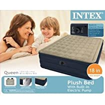 Big Sale Intex Recreation Plush Airbed Kit, Queen, Beige