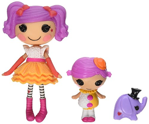 Lalaloopsy Mini Littles Doll, Peanut Big Top/Squirt Lil Top - 1