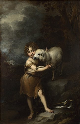 Oil Painting 'Bartolome Esteban Murillo - The Infant Saint John With The Lamb,1660-5' 18 x 28 inch / 46 x 71 cm , on High Definition HD canvas prints is for Gifts And Home Office, Home Theater decor (Low Profile Dehumidifier compare prices)