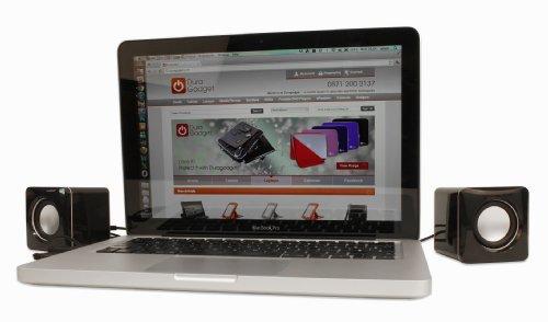 "Duragadget Mini Portable Usb Laptop Speakers For Apple Macbook Air 13"", 11"" & Pro 15"", Hp Envy 17 3D & 14-1195Ea Beats Edition,"