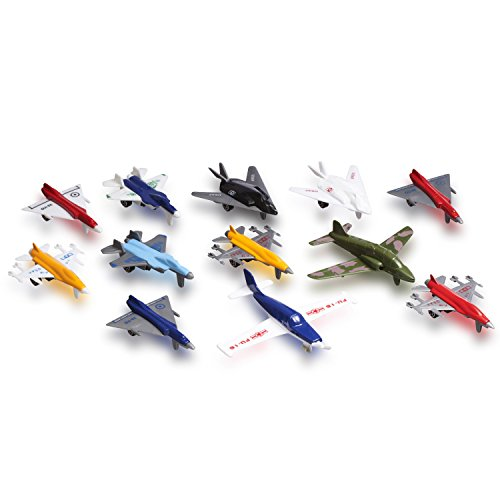 Metal Die cast Toy Airplane Set Of 12 Military Planes And Jets. (Toy Die Cast Planes compare prices)