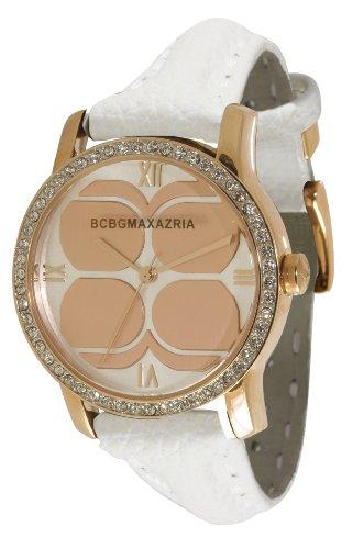 BCBGMAXAZRIA Ladies Watch BG6214 with White Leather Strap