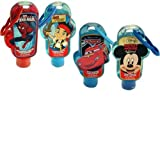 Disney Children's Scented Hand Sanitizers Pack of 4- Mickey, Cars, Jake, & Spiderman