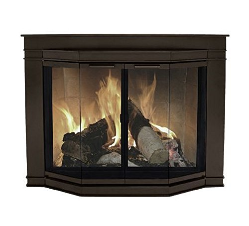 Pleasant Hearth Glacier Bay Medium Fireplace Glass Doors (Fireplace Doors Bay compare prices)