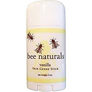 Bee Naturals Vanilla Skin Cream Sticks - TOP #1 SELLER - Convenient Reuseable Container - Luxury Hand Lotion In A Twist Up Stick Format