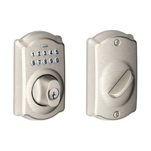Schlage BE365VCAM619 Camelot Keypad Deadbolt, Satin Nickel (Grade 1 Deadbolt compare prices)