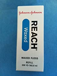 Johnson & Johnson Reach Dental Floss REFILLS, Waxed - 200 Yards **REFILL ONLY **