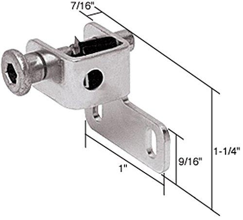 "C.R. Laurence S4026 Crl Aluminum Finish Sliding Window ""Push-Bolt"" Lock front-844143"