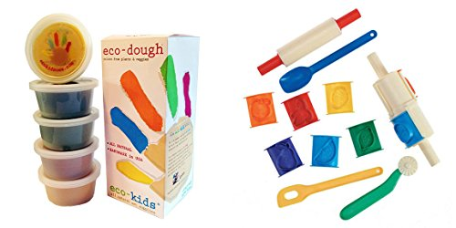 eco-kids-eco-dough-5-containers-of-4oz-and-clay-tool-set-14-pieces