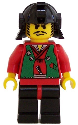 Lego Castle Minifigure: Ninja Robber with Green Vest