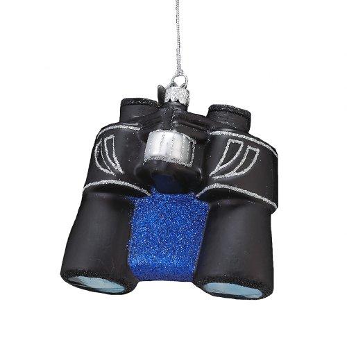 Kurt Adler Noble Gems Glass Binoculars Ornament, 4.25-Inch