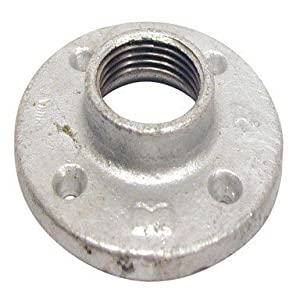 B k floor flange galvanized 1 1 4 fip for 1 inch galvanized floor flange