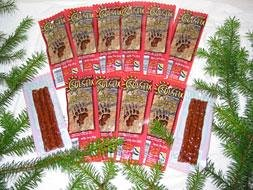 1 Dozen Packs Spicy Pepper Salmon Jerky 34 Oz Each from Alaska Spirit LLC