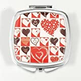 HOLI® Love Heart Square Mirror Cosmetic Mirror Compact Mirror, Gift Idea, Gift Box Includedby HOLI