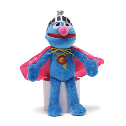 Gund Sesame Street Super Grover Beanbag Stuffed Animal