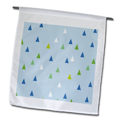 Fl_183930_1 Inspirationzstore Patterns - Blue Triangle Pattern - Tribal Teepee Or Mountain Inspired Design - Flags - 12 X 18 Inch Garden Flag front-89216