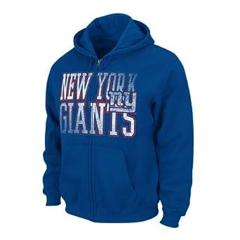 NFL New York Giants Touchback V Full Zip Hoodie - Royal Blue by VF LSG