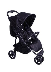Red Kite Baby Push Me Urban Jogger for Newborn (Black)
