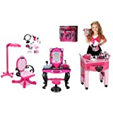 Dream Dazzlers Ooh La La Sassy Salon Bundle Gift Set includes Salon Chair, Mani & Pedi Cart & Much More