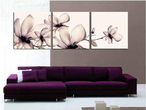 cadres tableau triptyque orchid e 150 50cm livraison gratuite. Black Bedroom Furniture Sets. Home Design Ideas