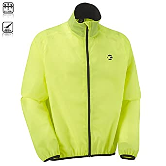 Tenn Airflow Packable Cycle Waterproof Cycling Jacket Hi-Viz Yellow XL