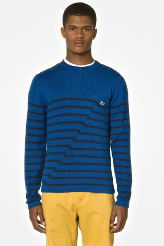 L!VE Supima Cotton Jersey Sweater With Stripe Detail